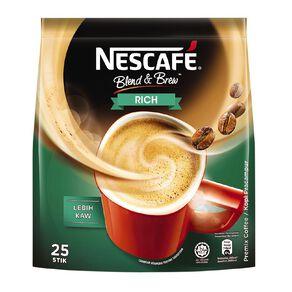 Nescafe Blend and Brew Rich 25 Sachets