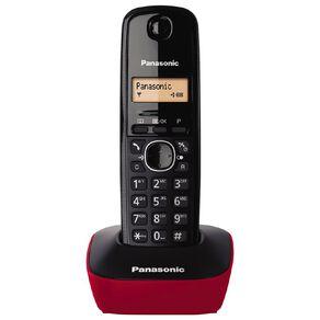 Panasonic KX-TG1611 Single Cordless Handset Red Red