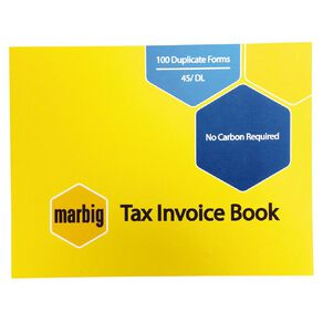 Marbig Invoice Book 45 Duplicate 100 Leaf Yellow