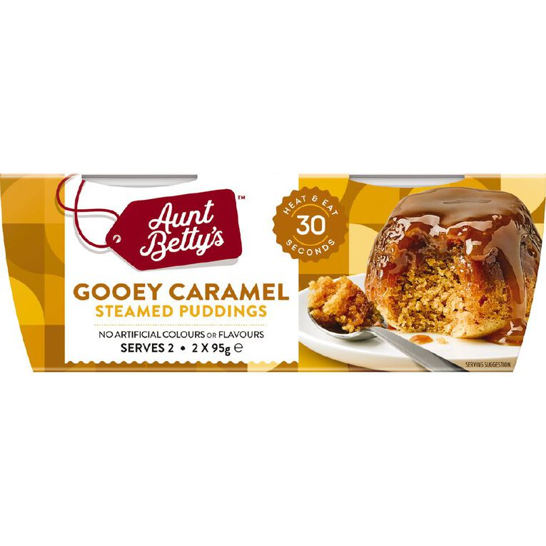 Aunt Betty's Steamy Puds Gooey Caramel 2 Pack, , hi-res