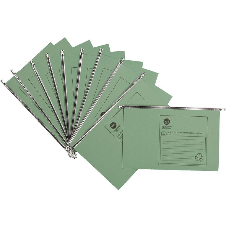 WS Suspension Files 10 Pack Green, , hi-res