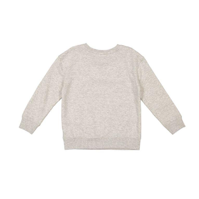 Young Original Printed Pullover Crew Sweatshirt, Grey Light, hi-res