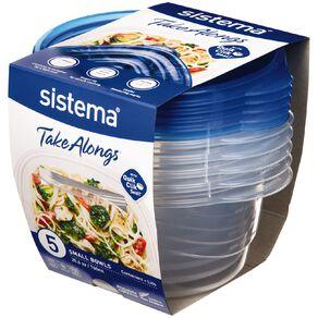 Sistema Take Alongs Small Bowl 760ml 5 Pack