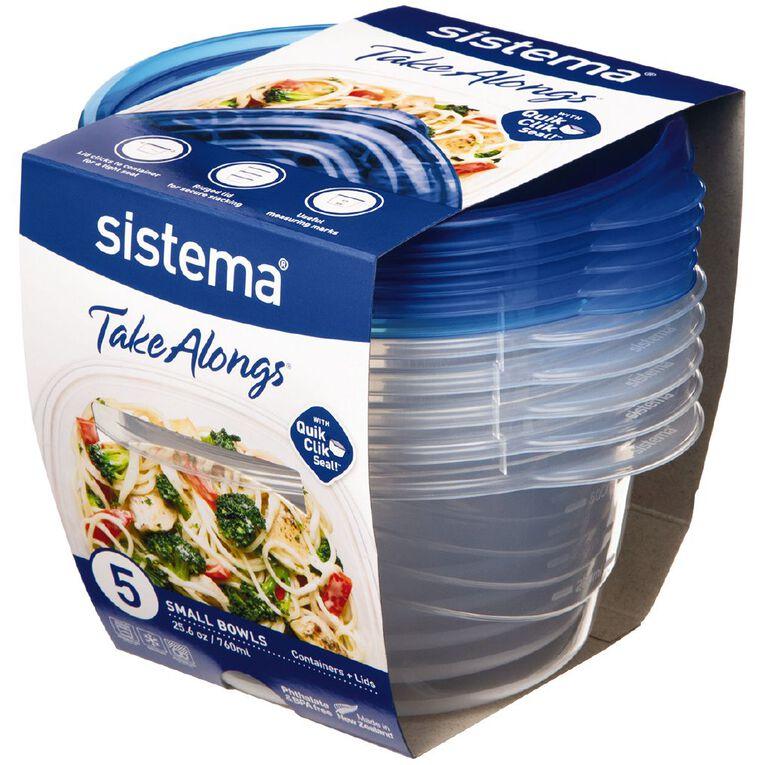 Sistema Take Alongs Small Bowl 760ml 5 Pack, , hi-res