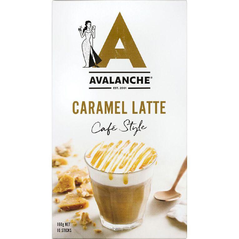 Avalanche Cafe Style Caramel Latte 10 Pack, , hi-res