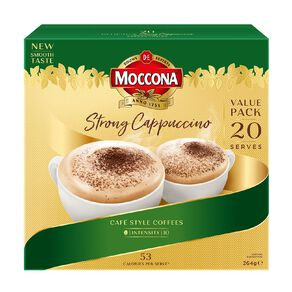 Moccona Cafe Classics Cappuccino Strong 20s