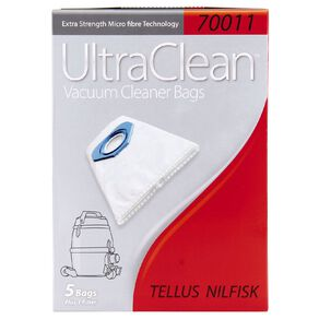 Ultra Clean Vacuum Bags For Tellus Nilfisk 5 Pack