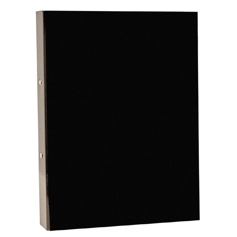 Card Ring Binder Black Foolscap, , hi-res