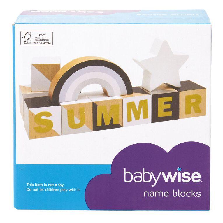 Babywise Name Blocks, , hi-res