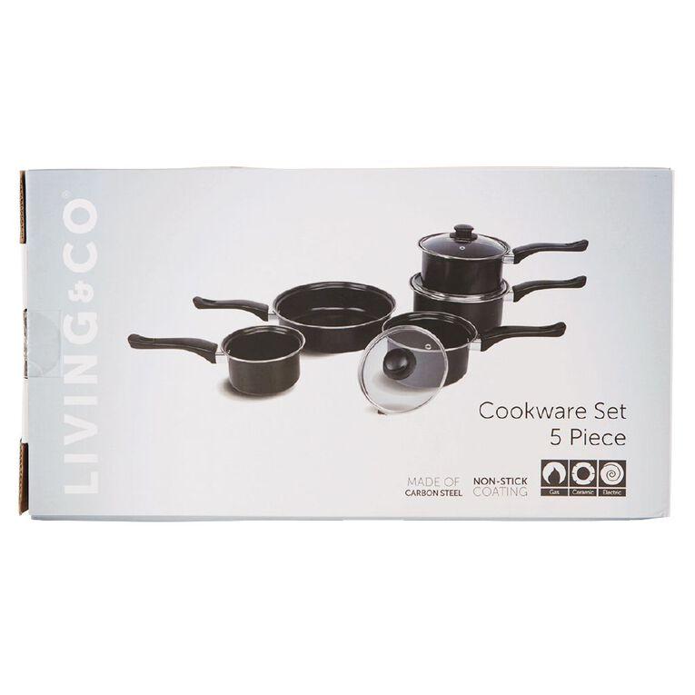 Living & Co Carbon Steel Cookware Set 5 Pack, , hi-res