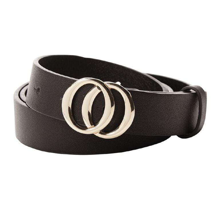 H&H Women's Circle Belt, Black, hi-res