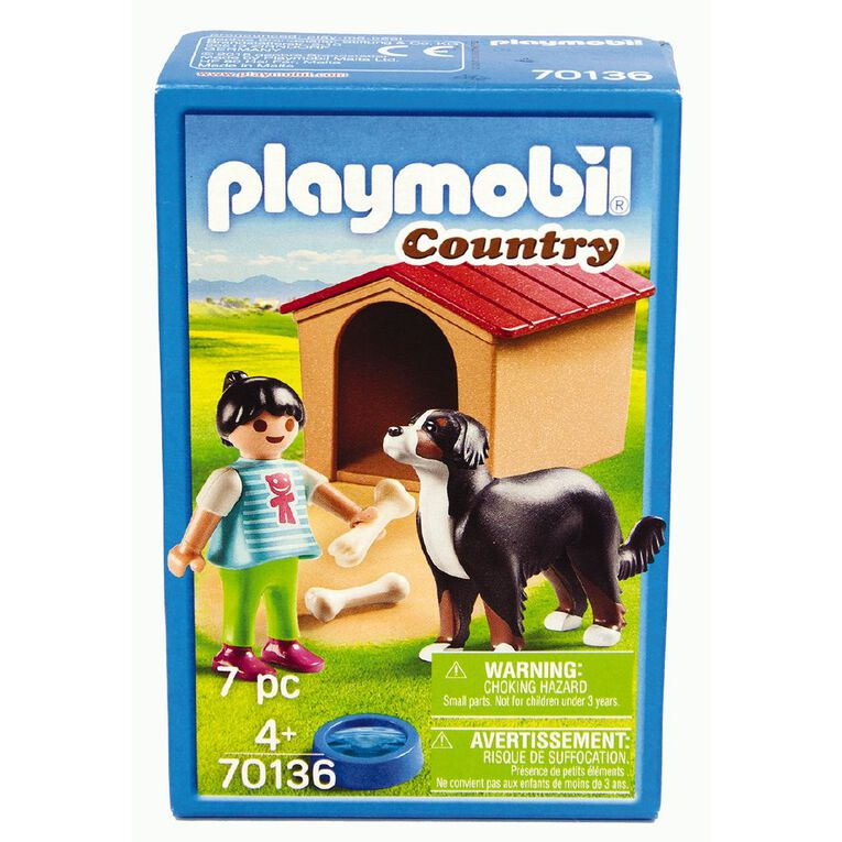 Playmobil Dog with Doghouse, , hi-res