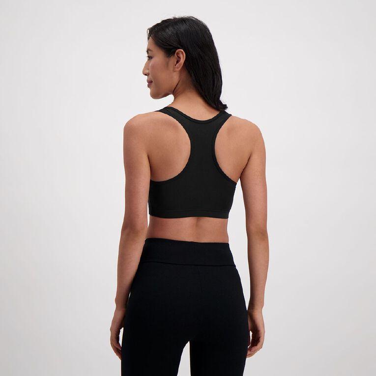 Active Intent Women's Plain Crop Singlet, Black, hi-res