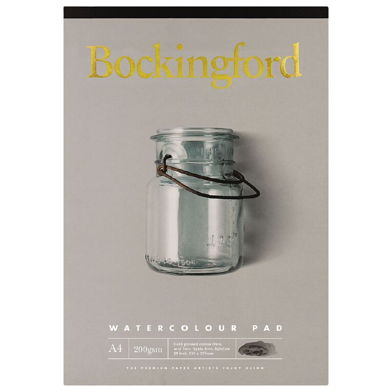 Bockingford Watercolour Pad 200gsm 20 Leaf A4, , hi-res image number null