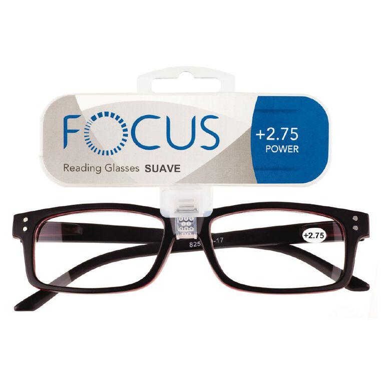 Focus Reading Glasses Men's Suave Power 2.75, , hi-res