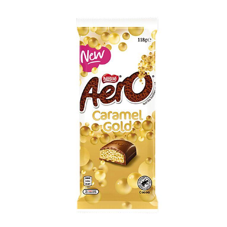 Nestle Aero Caramel Gold Block 118g, , hi-res