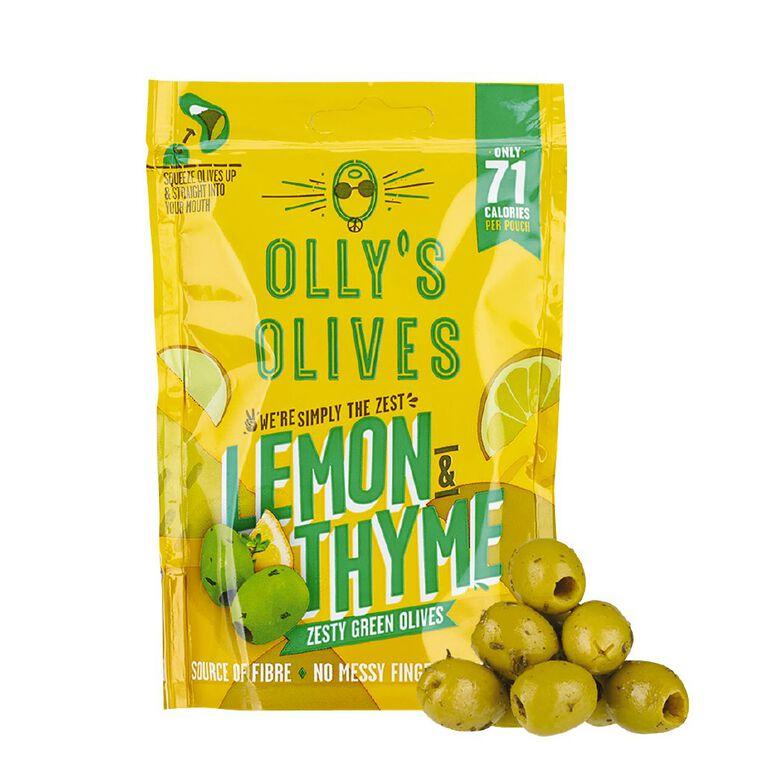 Olly's Olives The Hippie Lemon & Thyme Green Olives 50g, , hi-res
