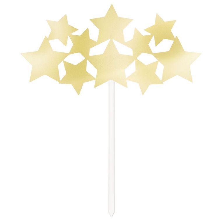 Unique Twinkle Star Foil Stars Cake Topper Gold, , hi-res