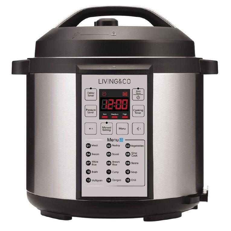 Living & Co Digital Pressure Cooker 6 Litre, , hi-res