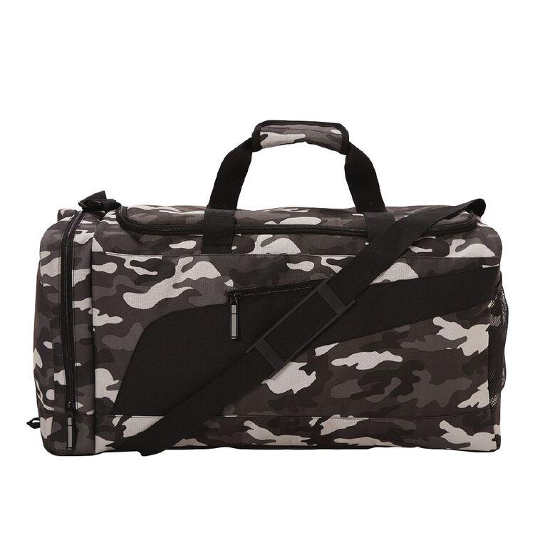 Active Intent Camo Sports Bag, Black, hi-res