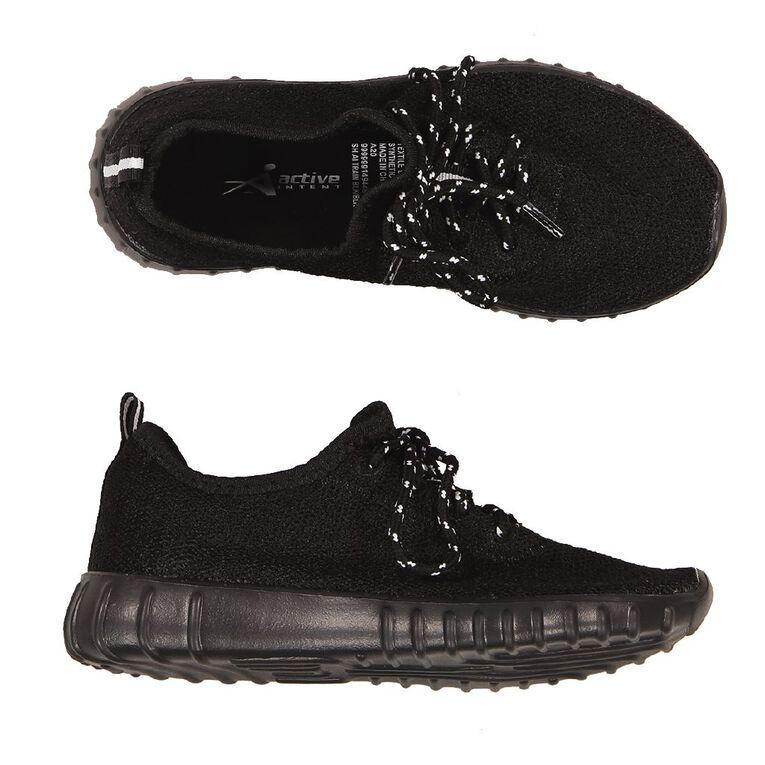 Active Intent Girls' Train Shoes, Black, hi-res