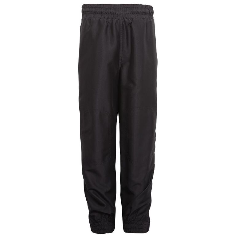 Schooltex Cuffed Leg Pongee Trackpants, Black, hi-res