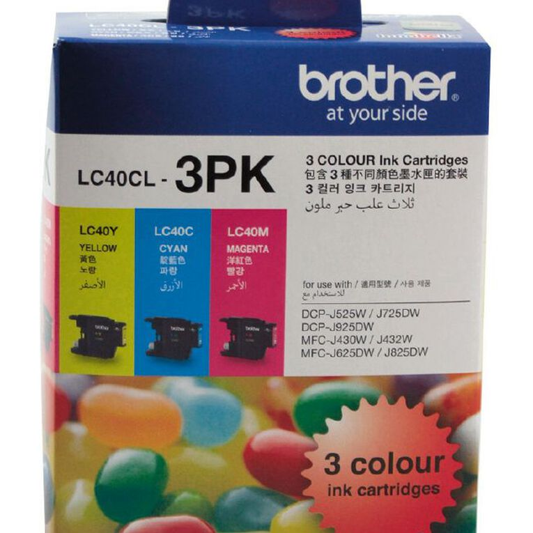 Brother Ink LC40 Colour 3 Pack (300 pages), , hi-res