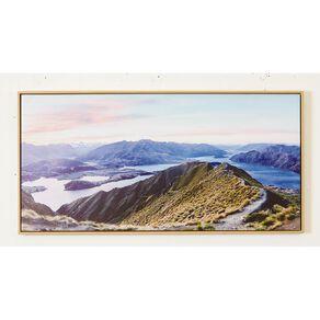 Living & Co Roys Peak Framed Canvas 50 x 100 x 3.5cm
