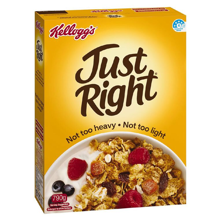 Kelloggs Just Right Original Cereal 790g, , hi-res