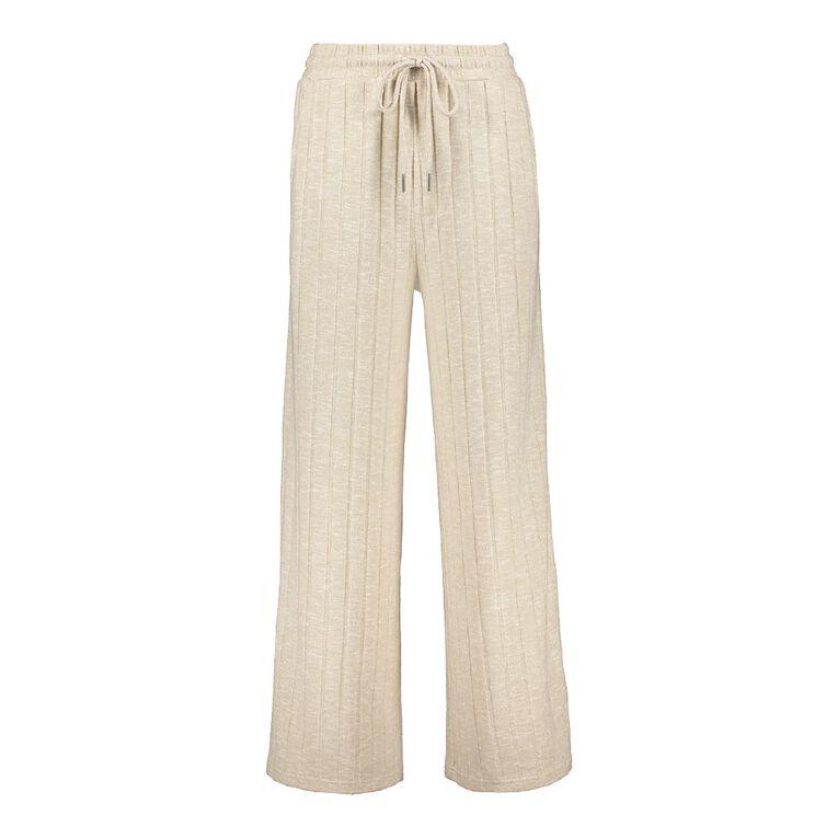 H&H Women's Brushed Wide Leg Pants, Brown Light, hi-res