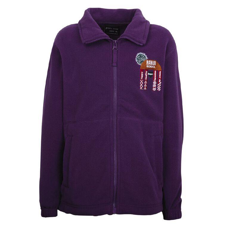 Schooltex Ranui School Polar Fleece Jacket, Purple, hi-res