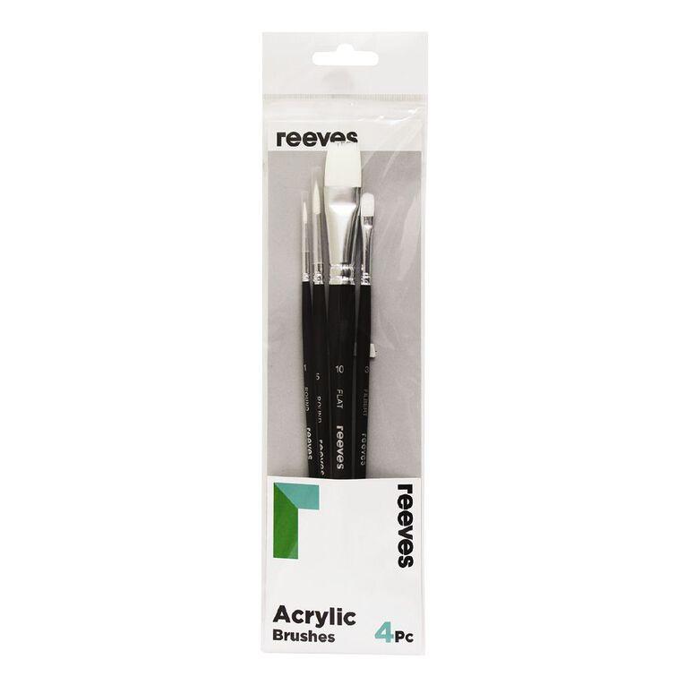 Reeves Acrylic Long Handle Brush Set of 4, , hi-res