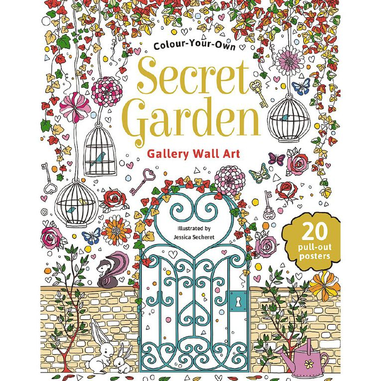 Colour Your Own: Secret Garden Wall Art, , hi-res