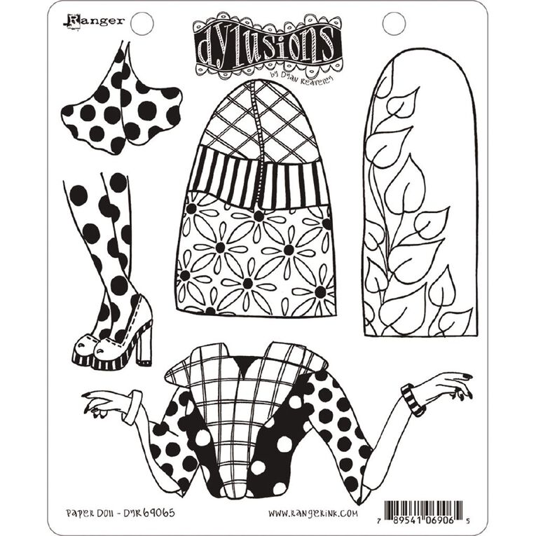 Ranger Dylusions Stamp Paper Doll, , hi-res