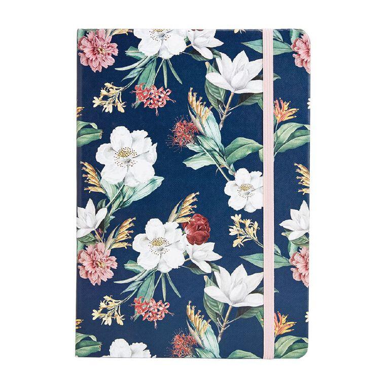 Uniti Kiwi Breeze Notebook PU Hardcover Flowers Green A5, , hi-res