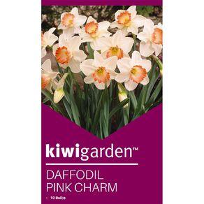 Kiwi Garden Daffodil Pink Charm 10PK