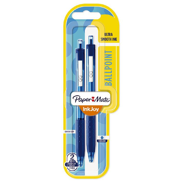 Paper Mate Inkjoy 300RT 1.0 Blue 2 Pack, , hi-res