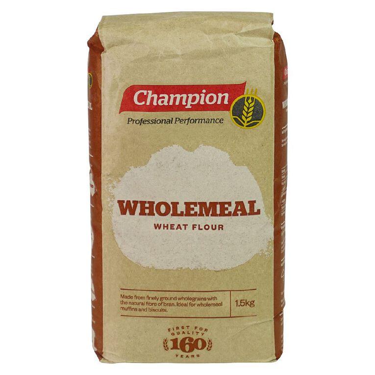 Champion Wholemeal Flour 1.5kg, , hi-res