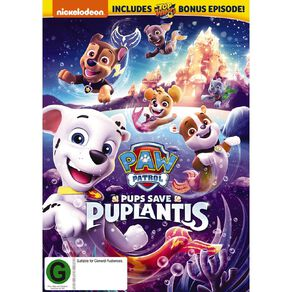 Paw Patrol Pups Saves Puplantis DVD 1Disc