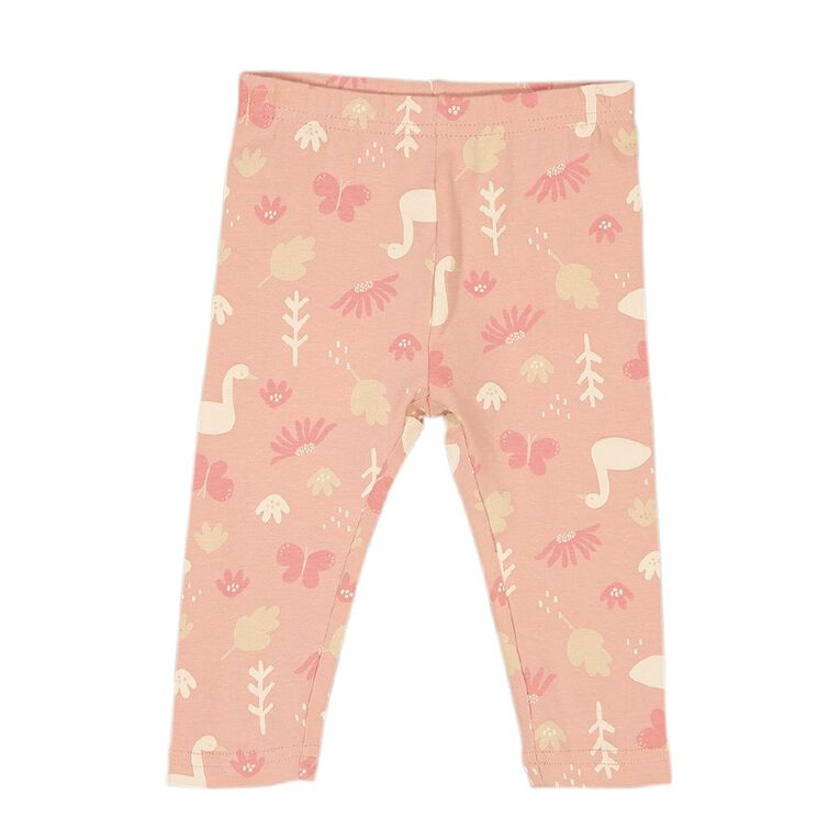 Young Original Baby Printed Leggings, Pink Mid, hi-res