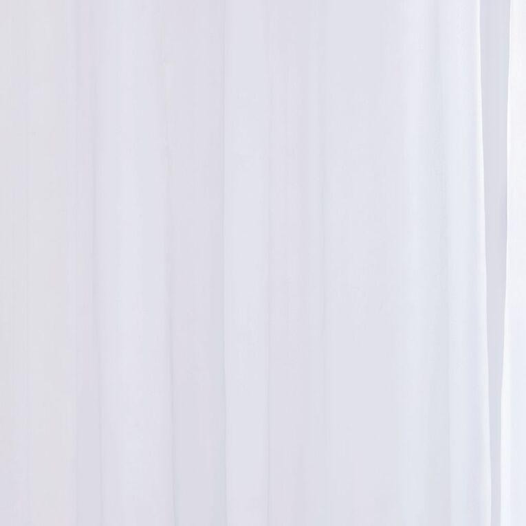 Living & Co Venus Voile White 90-180 x 200cm Drop, White, hi-res