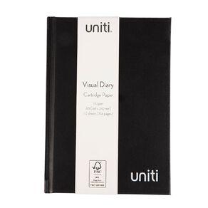 Uniti Visual Diary Hardback 110gsm 112 sheet Black A5