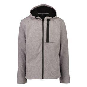 Active Intent Men's Burnout Bonded Fleece Jacket