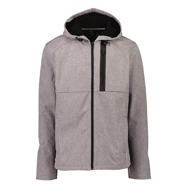 Active Intent Men's Burnout Bonded Fleece Jacket, Grey Dark, hi-res