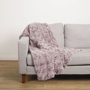 Living & Co Textured Faux Fur Throw 120cm x 140cm