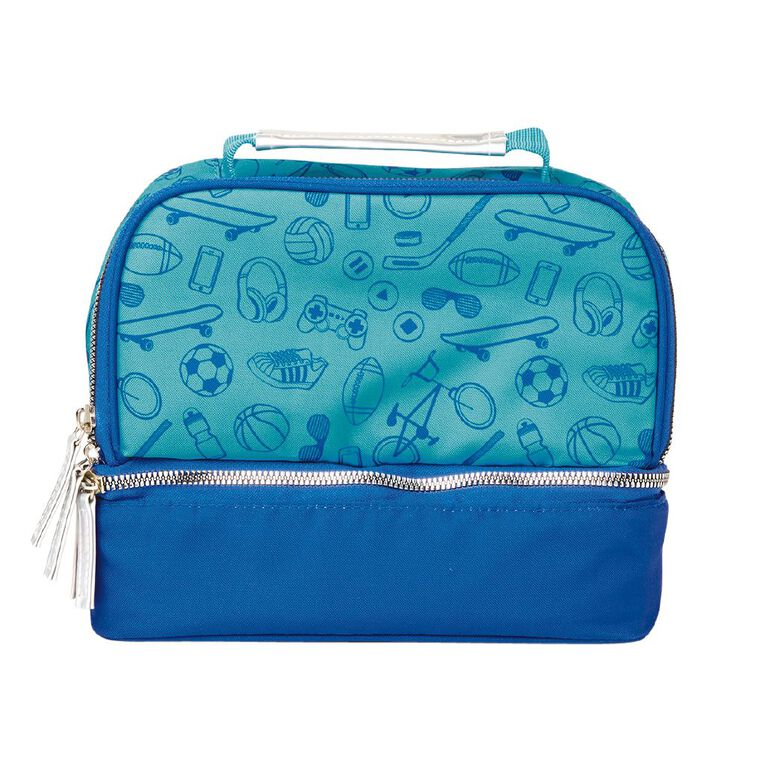 Living & Co Double Decker Kids Lunch Bag Gaming, , hi-res