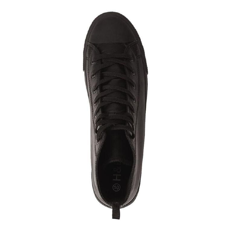 H&H Freestyle Hi PU Sneakers, Black, hi-res image number null
