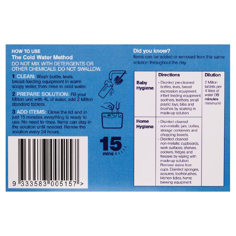 Milton Antibacterial Tablets 30 Pack, , hi-res