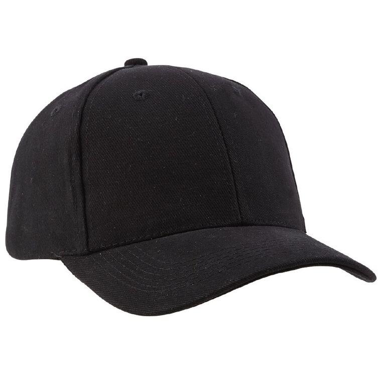 Schooltex Baseball Cap, Black, hi-res
