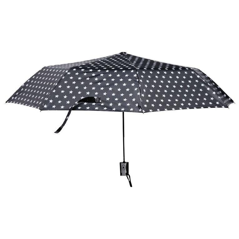 H&H Mini Fashion Umbrella, Black/Silver, hi-res